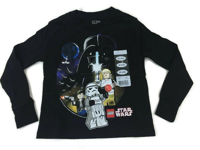 Star Wars Childs Lego T-shirt Xs X-small 4/5 Yrs Luke Han Solo Darth Vader + Nwt