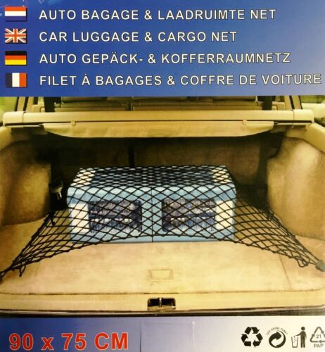 EF 2x Auto Gepäck /& Kofferraumschutz 90 X 75cm Trennnetz Kunststoff Netz