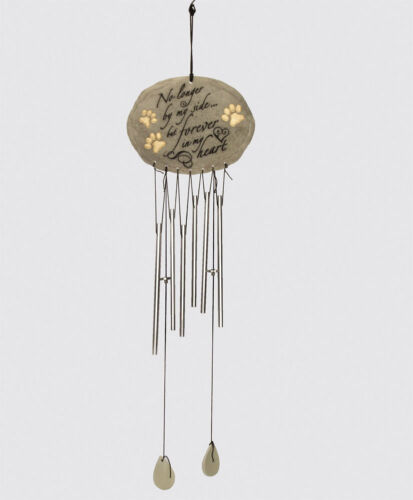 No Longer By My Side Dog Wind Chime