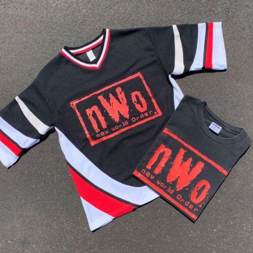 Vintage 90s 1996 WCW NWO 4 Life Hockey Jersey Medi