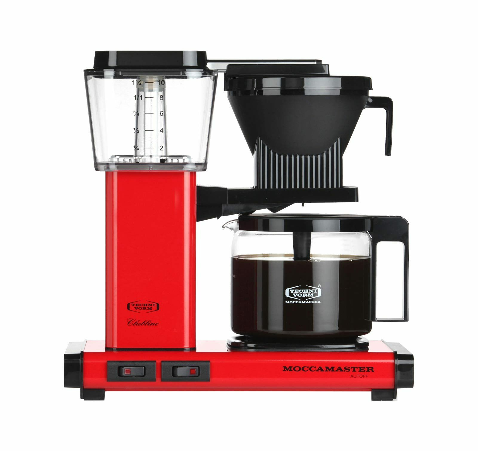Technivorm Moccamaster KBG Red Metallic Glass Carafe Brewer