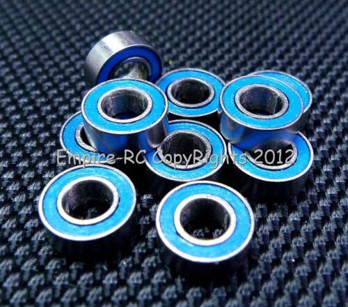 4x8x3 mm Rubber Sealed PRECISION Ball Bearing 10 PCS BLUE MR84-2RS 4*8*3