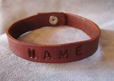 Leather Bracelet- Name- custom bracelet  by southerncharmholsters