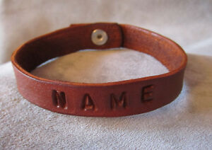 Details About Leather Bracelet Name Custom By Southerncharmholsters