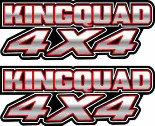 King Quad 4x4 white Gas Tank Graphics Decal Sticker Atv Kingquad 750 300 plastic