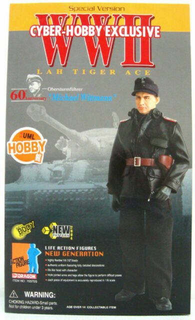 "Dragon Cyber Hobby 1//6 scale 12/"" WWII German Tiger Ace Michael Wittmann 70370S"