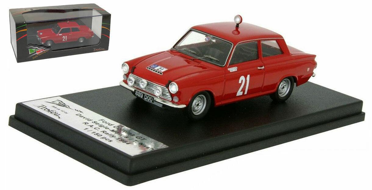 TROFEU rruk 12 FORD CORTINA GT RAC Rally 1964-David Seigle-Morris  échelle 1 43  pour pas cher