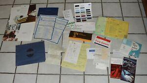 Huge-Lot-1967-Cadillac-Coupedeville-Brochures-Paint-Samples-Literature-Invoices