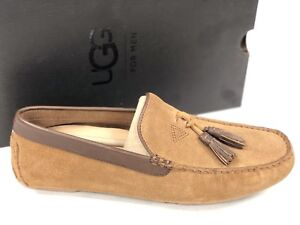 13567d2c16a8 Image is loading Ugg-Australia-Mens-Marris-Chestnut-Brown-Tassel-Loafer-
