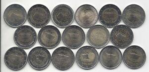 2 Euro Traité De Rome 13 Pays 17 Monnaie Complet