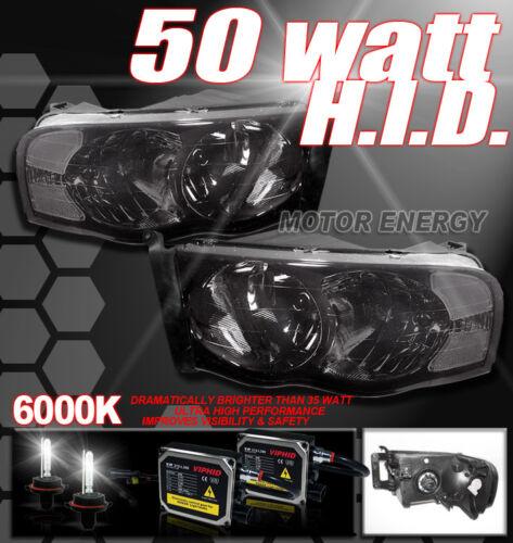 02-05 DODGE RAM 1500 2500 3500 SMOKE HEAD LIGHT+50W HID