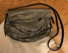 1dcbe32ef2 Jimmy Choo Large Boho' Metallic Hobo Platinum Chain for sale online ...