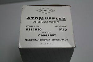 """Alwitco 0111010 M10 Muffler 1"""" with out Street Elbow New"""