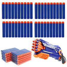 100Pcs Nachfüll Refill Darts Pfeile Elite Clip Darts Blau NERF N-Strike Blaster#