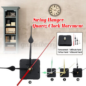 US-Long-Quartz-Silent-Wall-Clock-Movement-Mechanism-Module-Repair-Tools-Kit-Set