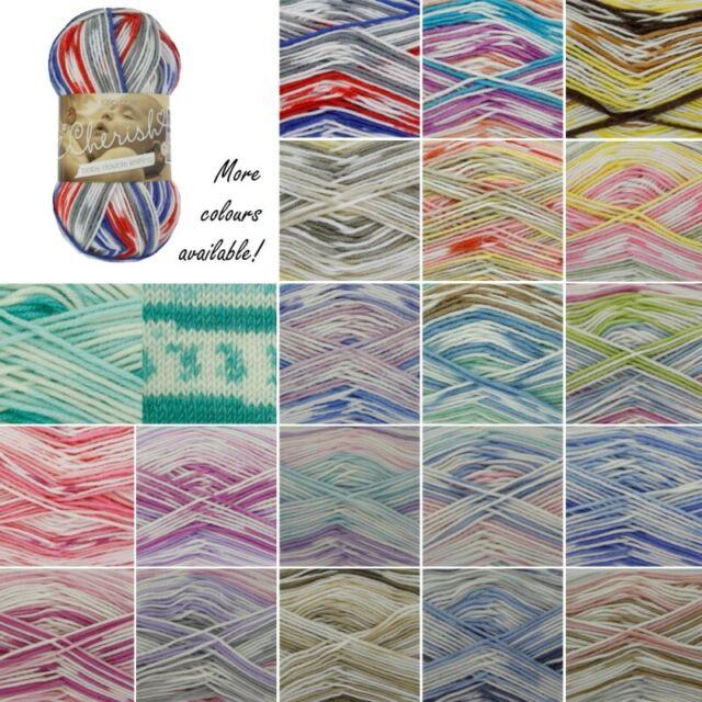 100g King Cole Cherished Baby DK Knitting Yarn Shade Baby Blue