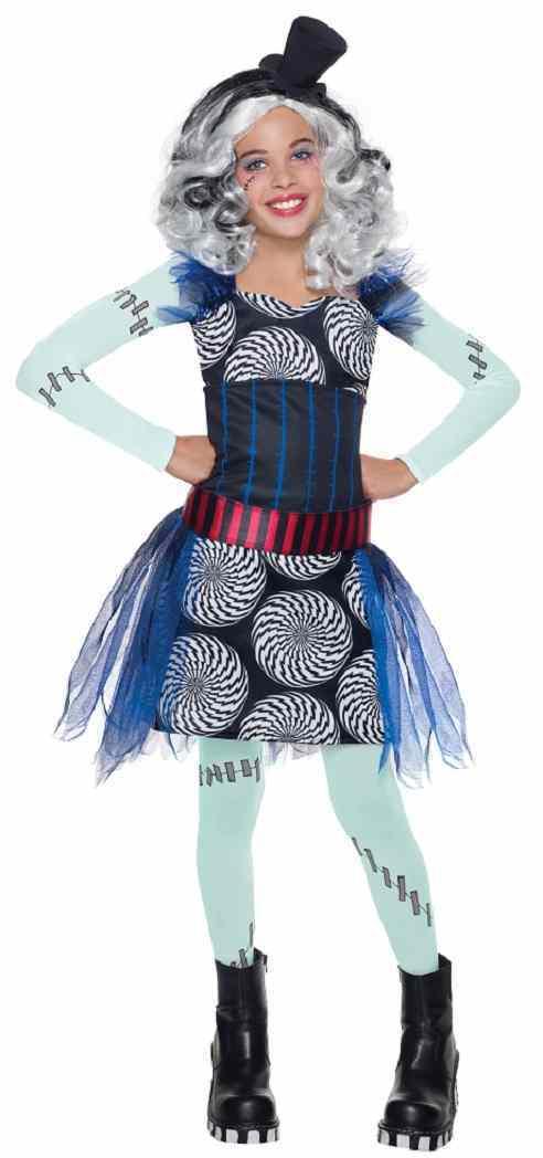 Monster High - Frankie Stein Freak du Chic Fancy Dress Up Halloween Child Costume