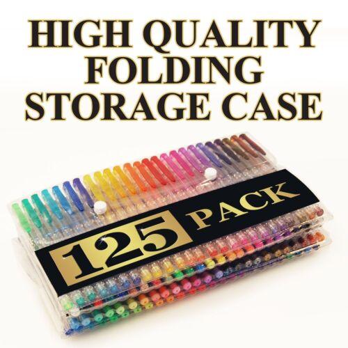 XL Set No Duplicates Carrying Case - 125 Individual Colors 125 Gel Pens