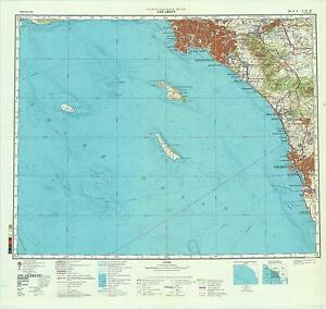 Russian Soviet Military Topographic Maps - SAN DIEGO (USA), 1:500 ...