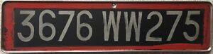 GENUINE-Paris-France-French-Temporary-Licence-License-Number-Plate-3676-WW-275
