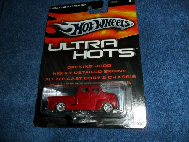 Hot Wheels Ultra Hots Red 50/'s Chevy Truck w//Real Riders