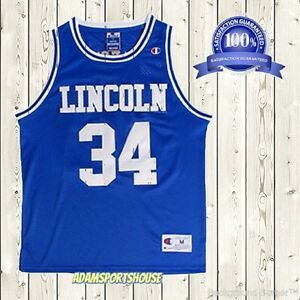 Image is loading Jesus-Shuttlesworth-34-Lincoln-Jersey-Throwback-He-Got- 89f66525a