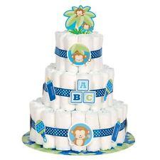 Boy Nappy Cake Kit Monkey - Party Decoration Supplies