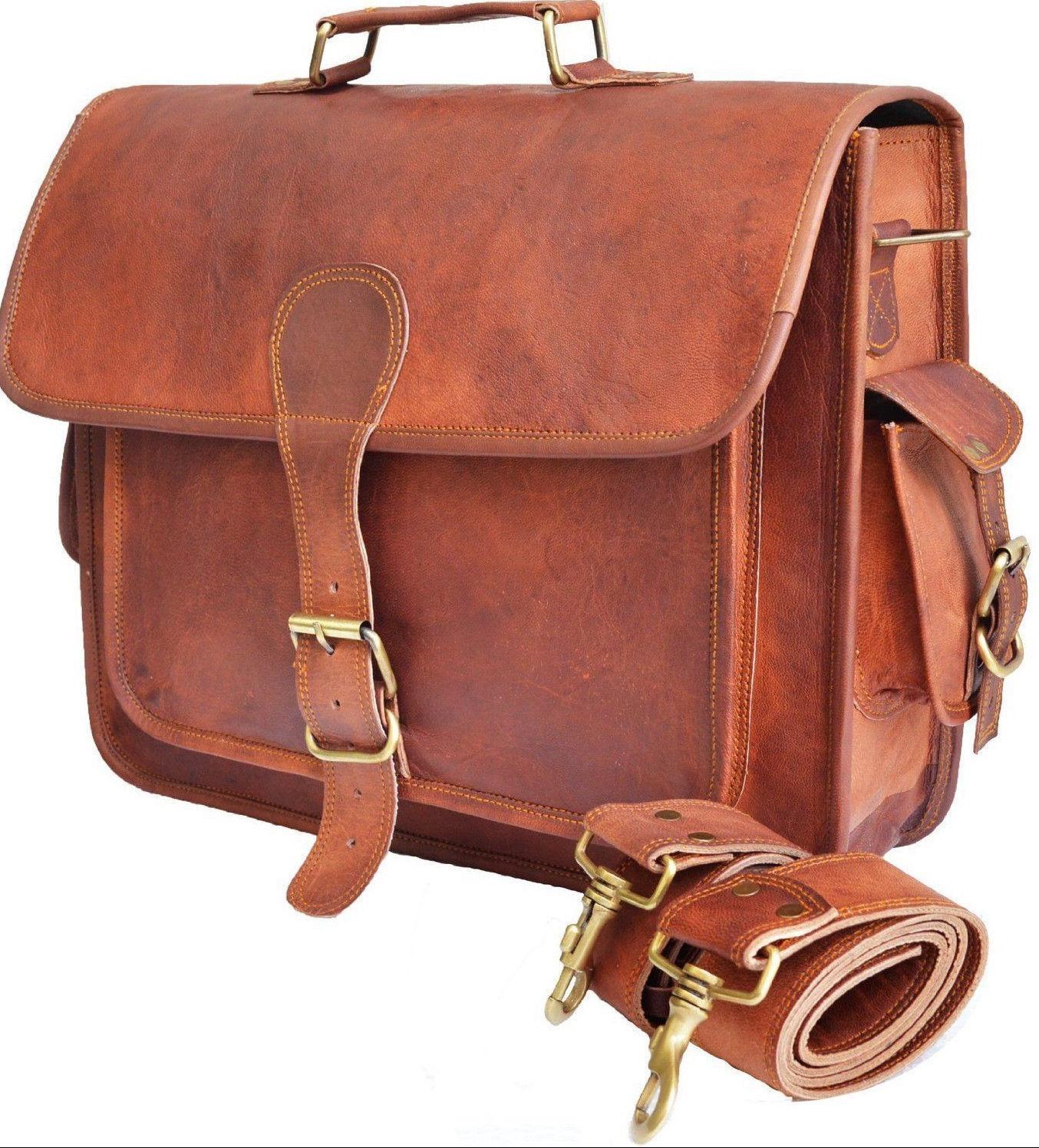 Männer Distressed Leder Vintage Braun Messenger Schulter Laptoptasche Aktentasch | Zarte
