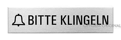 OFFORM Edelstahl Türschild I Schild I Kantine I 160x40 mm I Nr.8389
