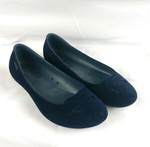 Crocs-Women-039-s-Size-7-Mary-Jane-Blue-SUEDE-Flats-RARE-A-CONDITION-Merrell