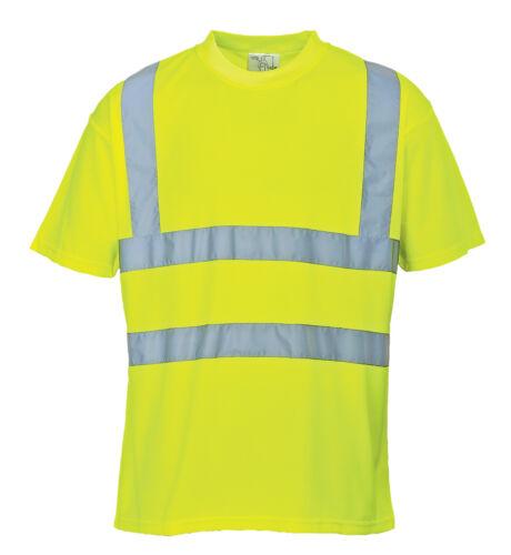 Warnschutz T-Shirt gelb 3XL XXXL Warn Polo Shirt Warnshirt Hemd