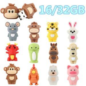 Cartoon-Animal-Flash-Stick-Thumb-Memory-Pen-Drive-USB-2-0-Disk-16GB-32GB-Storage