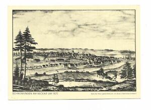 AK-Kuenstlerkarte-von-Schwenningen-Neckar-um-1870-Heimatpostkarte-Nr-36