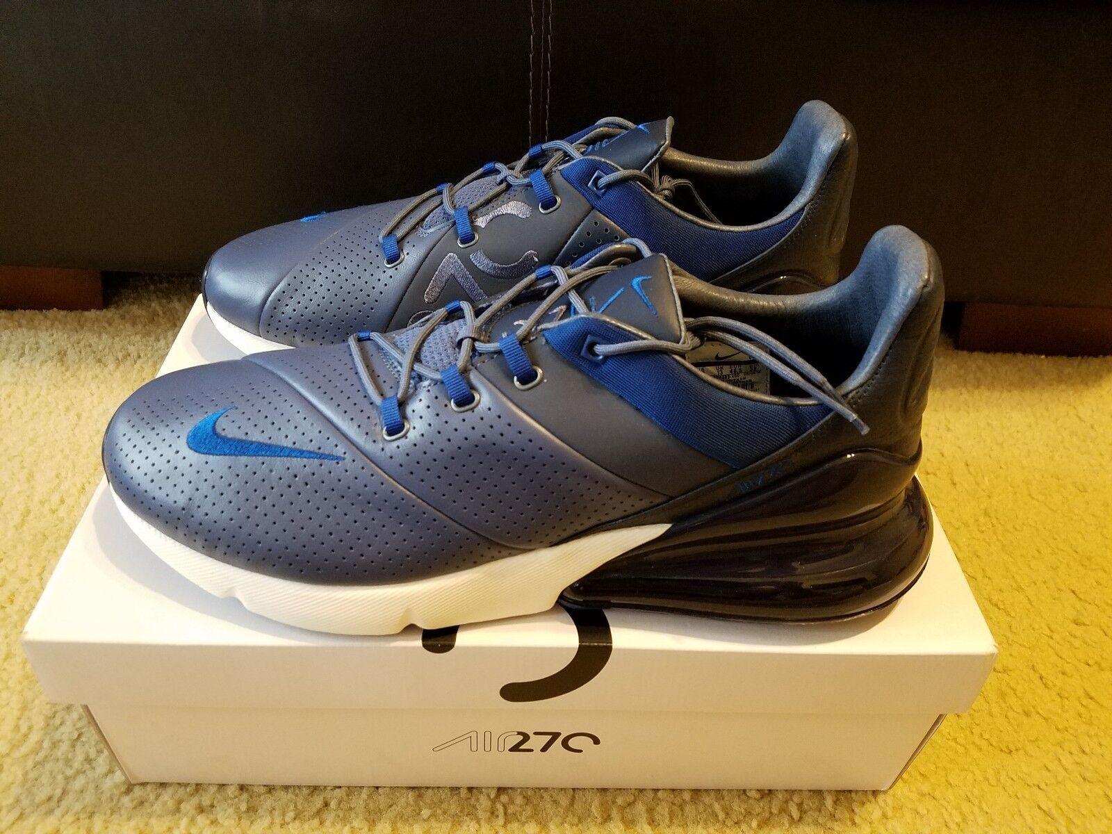 Nike Air Max 270 Premium Hommes Taille 14 Diffused Bleu Gym Bleu AO8283 400 NIB