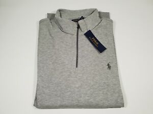 New-Authentic-Polo-Ralph-Lauren-Men-039-s-Double-Knit-Half-Zip-Pullover-2XL-SALE