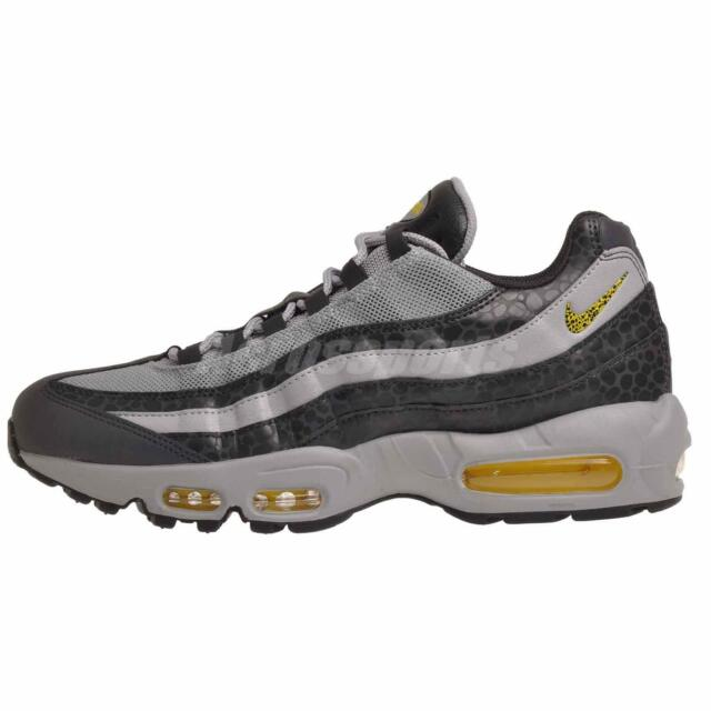 le dernier df45b 6ed76 Nike Air Max 95 SE Safari Reflective Mens Bq6523-001 Grey Yellow Shoes Size  11