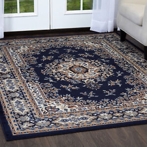 Image Is Loading Persian Navy Blue Area Rug 6 X 8