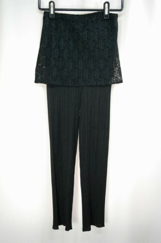 PLEATS PLEASE Black Pants ISSEY MIYAKE 230 2850