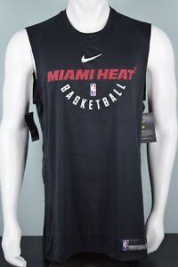 NWT Mens Nike NBA Miami Heat Sleeveless Shooting Shirt Black S-3XL 857548 010 xi