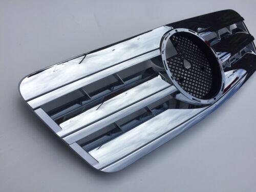 Mercedes w208,c208,1995-03,Chrome Grille,Central Star,AMG CLK63 look.CLK55 ;