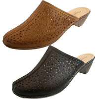 Annabelle Plus Ladies Clogs  Slip On Mule Sandals Heels Size 4 5 6 7 8