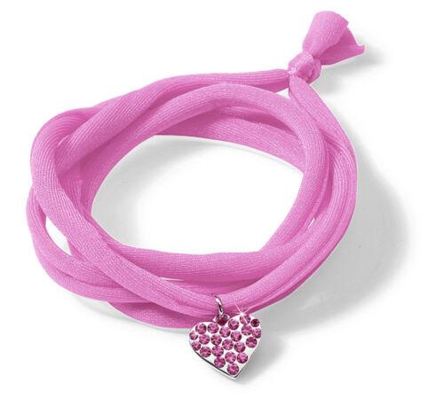 NICI Ayumi Love Armband Textil mit Herz-Anhänger