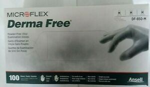 Disposable-Gloves-Vinyl-Medium-100-box-Derma-Free-Microflex-Smooth-Powder-free