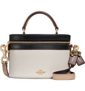 Authentic-Coach-Selana-Trail-Bag-Gold-Chalk-Multi