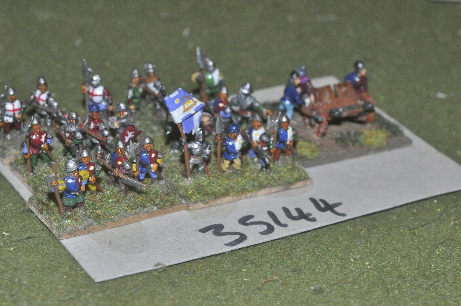 15mm medieval   english - battle group 27 figures - inf (35144)