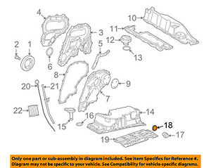 details about land rover oem 08 12 lr2 3 2l l6 engine drain plug washer lr000506 2008 Mazda Tribute Engine Diagram