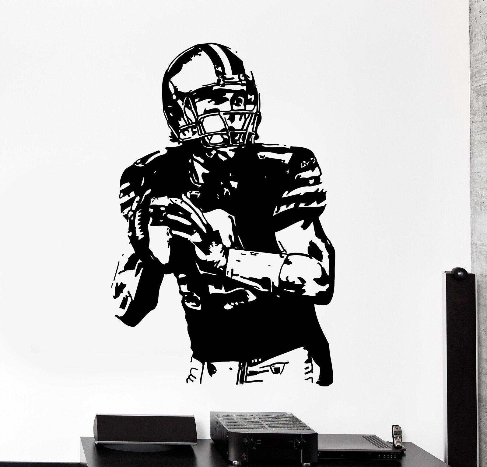 Wall Decal Football Football Football Player Sport Super Bowl Decor z3991 16d412