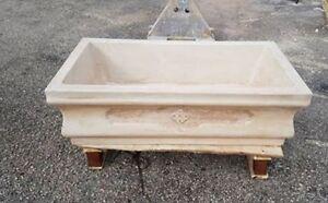 Lavello lavandino lavabo lavatoio vasca acquaio in cemento e marmo