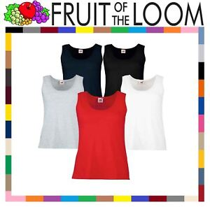 deed536c Fruit Of The Loom Lady Fit Valueweight Vest Ladies Women T-Shirts 5 ...