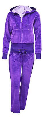 New Ladies Women Full Tracksuit Hoodie Trousers Velour 8 10 12 14 16 18 20 22